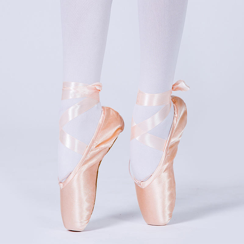 Wholesale High Quality Professional Girls Satin Pink Ballet Dance Pointe Shoes