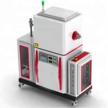 1200 -1800 degree high temperature vacuum quartz tube gas furnace