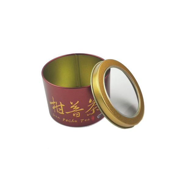 Tea Customized Tins With Pvc Window Best Price In Professional Tin Box Factory