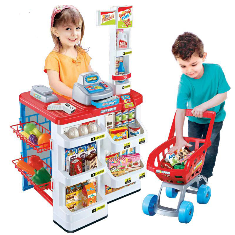 Hot Sell Plastic China Toys Kids Pretend Kitchen Play Toy Supermarket Set