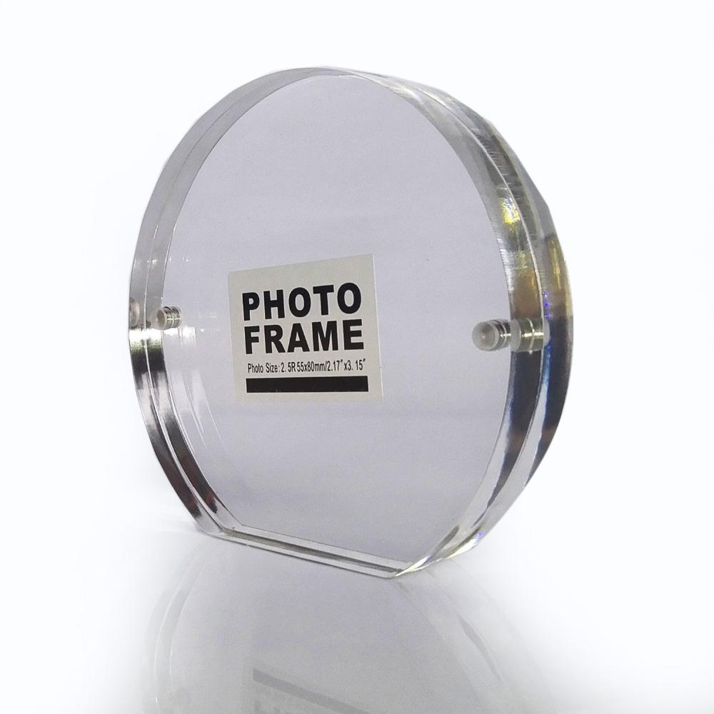 Latest Creative Design Exquisite Plexiglass High Transparent Custom Standard Sizes Acrylic Round Magnetic Picture Frames