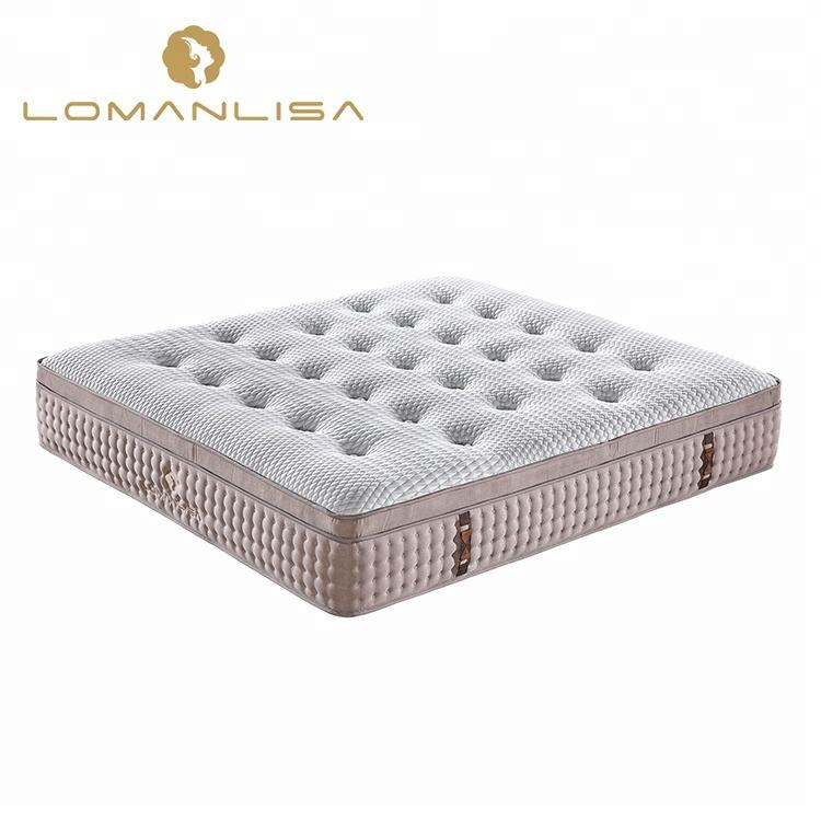 High quality ice silk fabric Hand-tufted foam pocket spring mattress