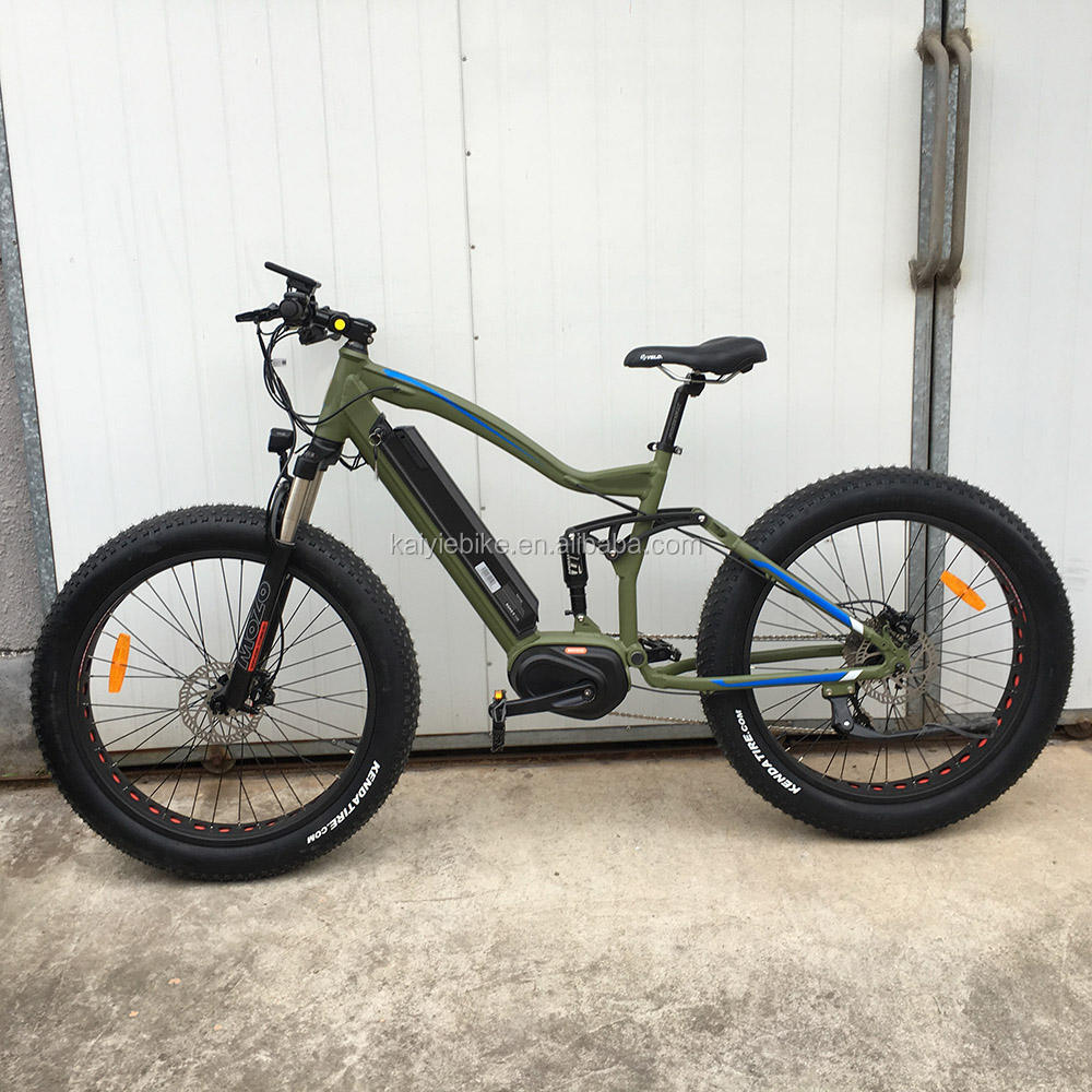 Full suspension motor mount electric bike
