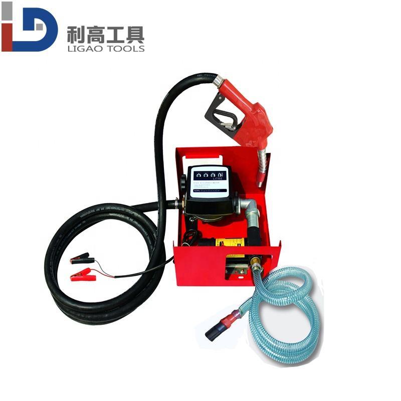 Discharge Hose /& Nozzle Set Red Stark 110V Electric Diesel Oil Fuel Transfer Pump w//Meter