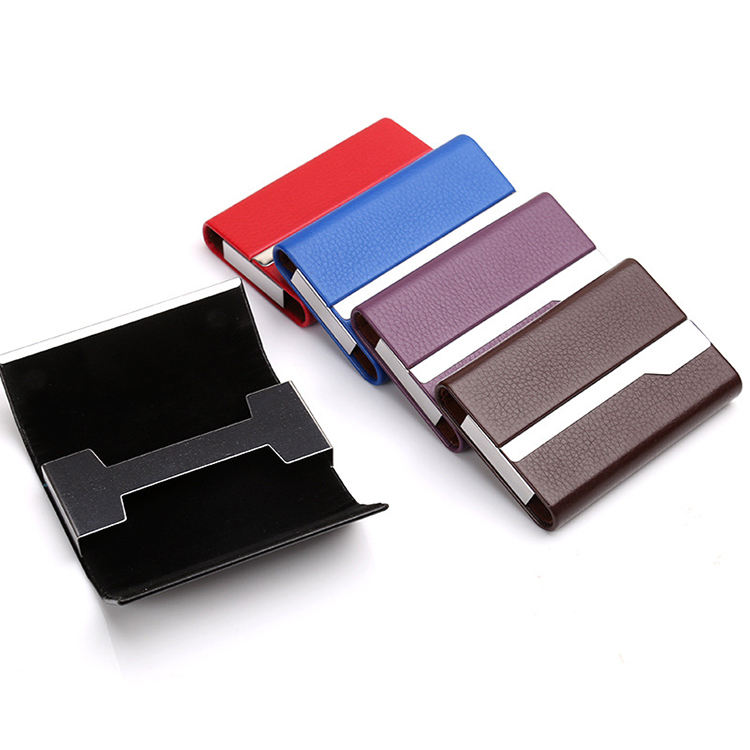 New Metal Crocodile Leather High Class Credit Card Holder For Man Woman Black Card Case