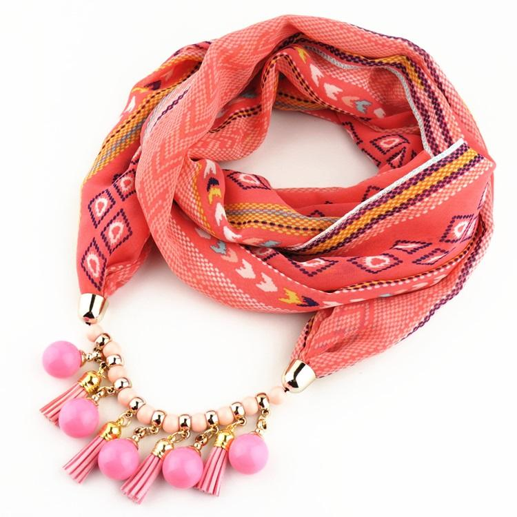 Image printing polyester soft Necklace Jewelry scarf