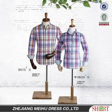 OEM Service Fancy Design Check Casual Shirt For Couples