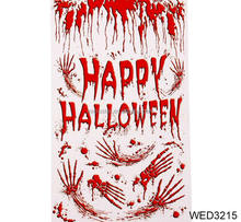 FENGRISE Happy Halloween Horror Bloody Mural Party Carnival Masquerade Stage Layout Door Cover Halloween Decoration Photo Props