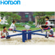 four seats outdoor playground seesaw