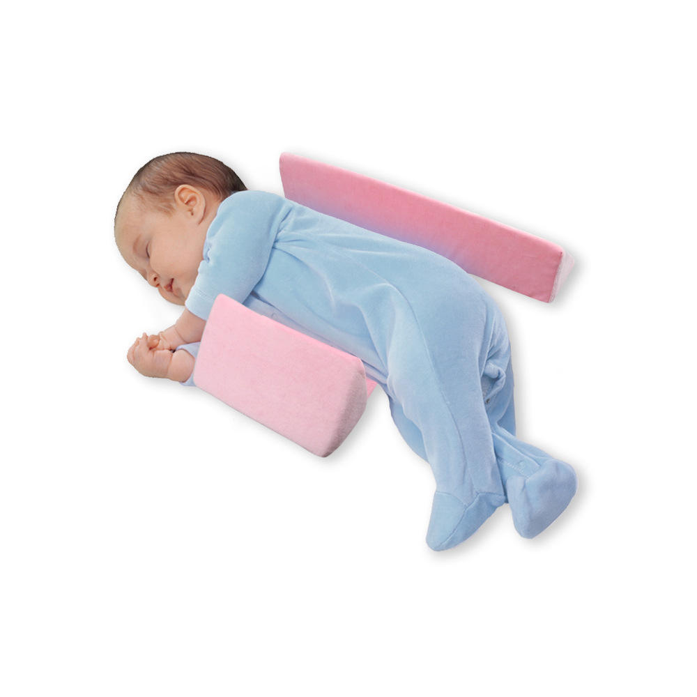 Foam safe protective baby side sleep pillow wedge anti roll baby pillow for newborn safer sleeper
