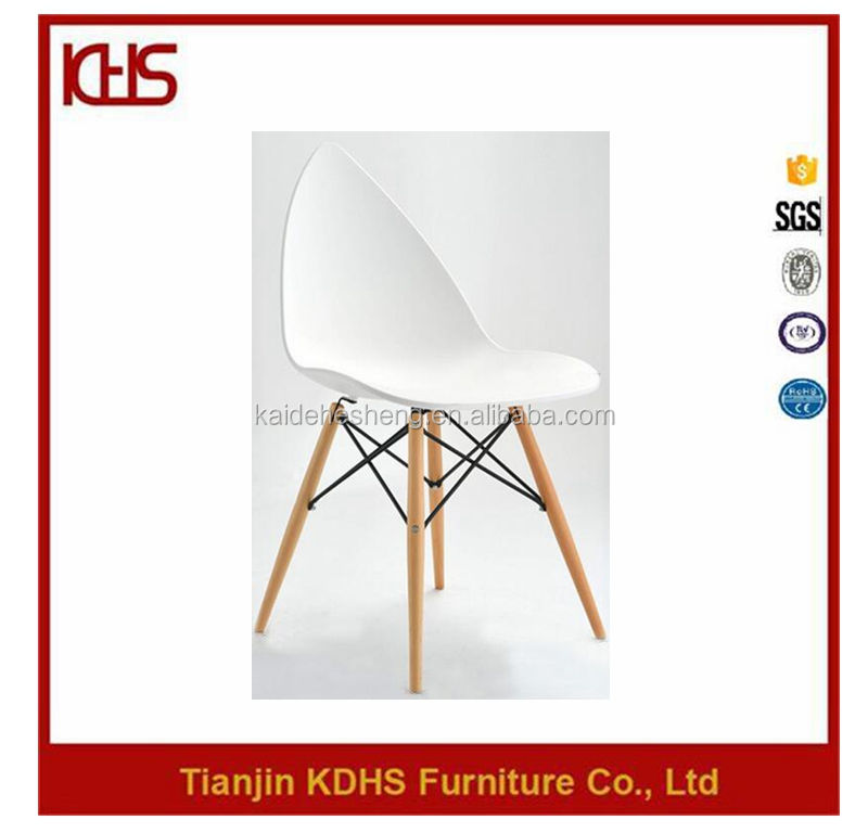 Colorful cheap modern plastic dining chairs with water prop shape back