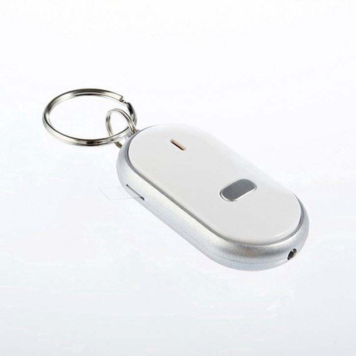 Wireless Key Finder LED Electronic Key Finder Locator Hilang Cari Keys Rantai Keychain Whistle Suara Kontrol