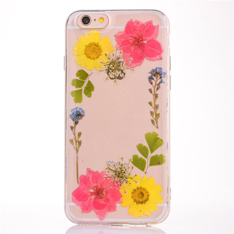 Tpu Pc Acrylic Flower Case For Iphone 7,For Iphone Case Flowers