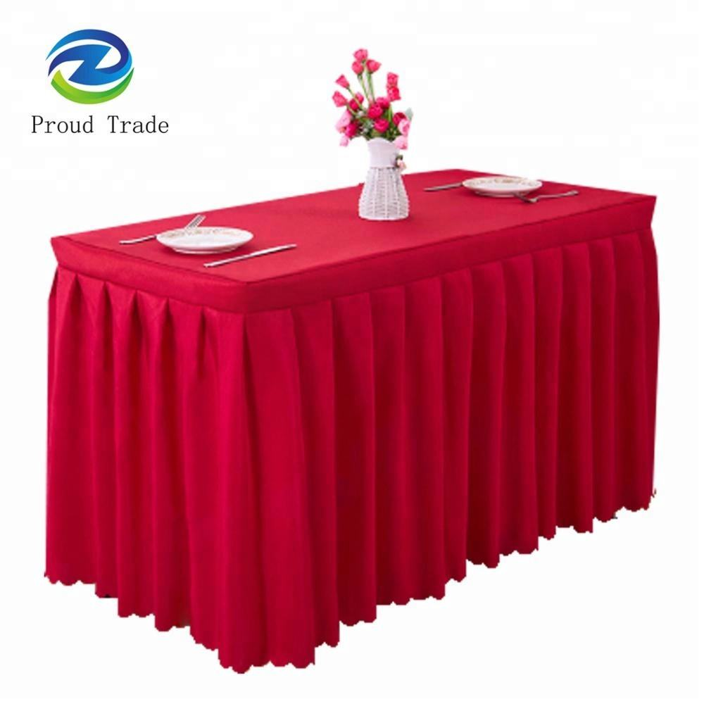Pas cher Personnaliser Banquet Mariage Conceptions Polyester Table Plinthe
