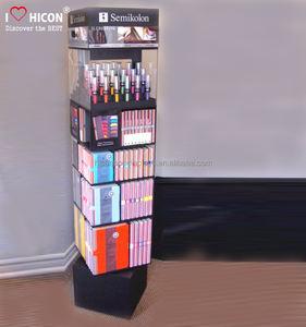 Drücken Sie Ihre Kreativität und Brand Value Retail Store Haut Pflege Parfüm Glas drehen kosmetische Vitrine und Showcase