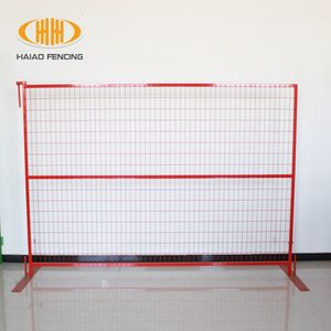china 10+ years factory durable pvc coated no dig construction site fence, outdoor temporary dog fence