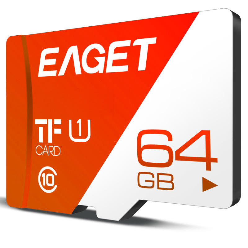 EAGET T1 64GB Class10 Memory Card TF Card UHS-I Original Flash for Phones Tablet CCTV camera MINI SD Card 64GB