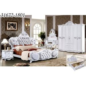 Klasik Raja Ukuran Kayu Royal Style Bedroom Furniture Set 31672-1801
