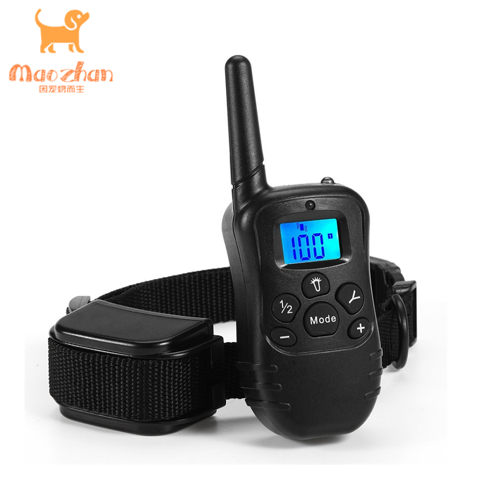 OEM Customized Logo Waterproof Rechargeable Dog Training Collar with Beep/Vibration/Shock Electric Dog Training Collar Remote