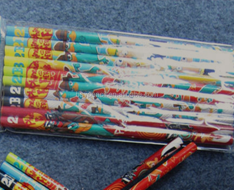 custom design 2B wooden pencils