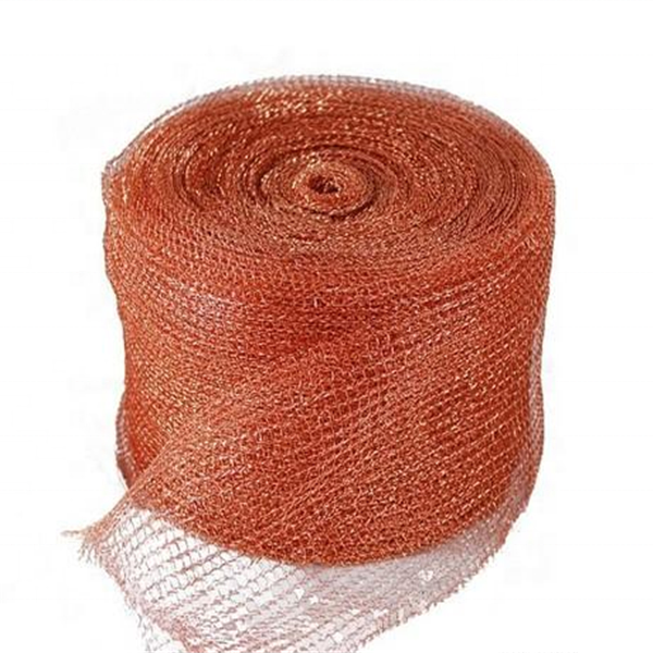 0.16mm copper wire Knitted wire mesh machine, knitting mesh factory price