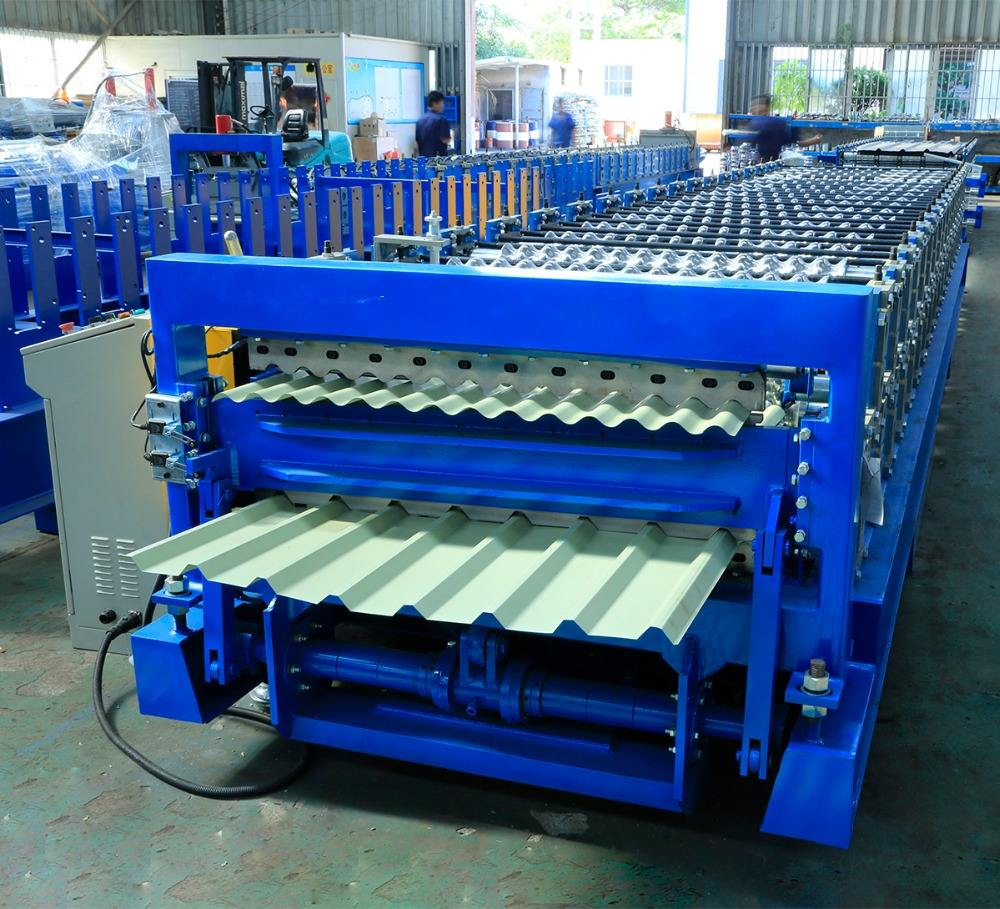double layer roofing sheet roll forming machine Roll Former China Double Layer Metal Roofing Panel Roll Forming Machine