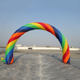 Colorful rainbow inflatable arch for sale durable arch for party decoration