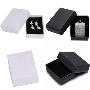 Custom Small Paper Box With Lid Template Cardboard Box For Jeweleries