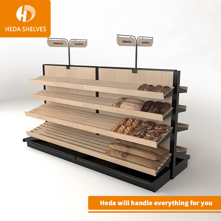 hight quality fashion style display bread showcase bakery store fixture /bakery rack