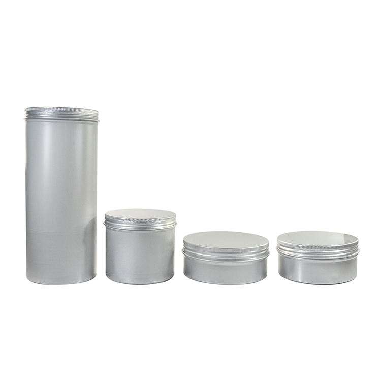 2018 best-selling 150g 200g 250g 350g 1000g aluminum tin container for food cosmetic with screw lid