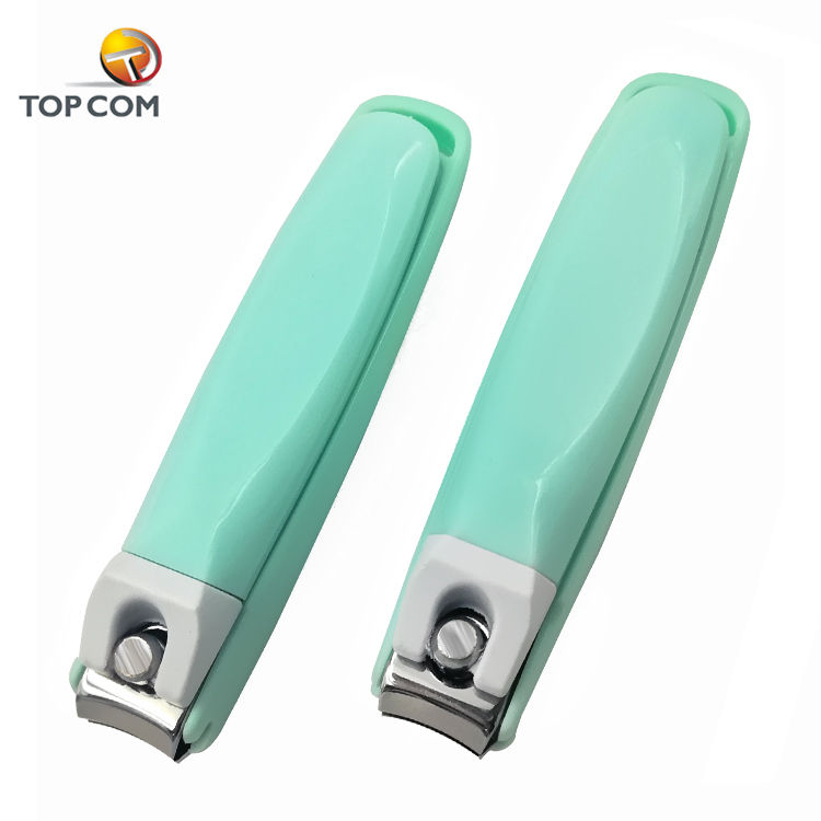 plastic handle nail clippers with clipping nails collector