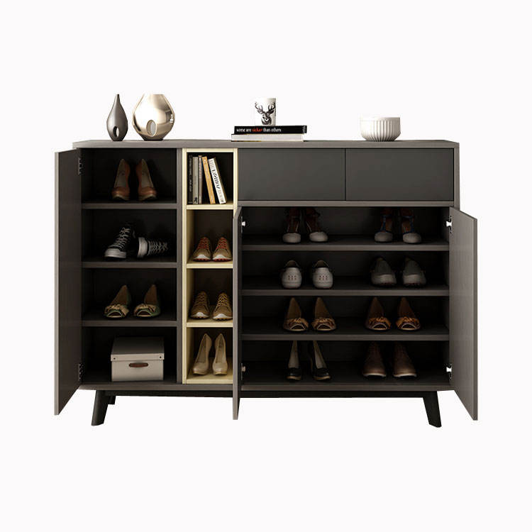 hot sale simple modern shoe wooden cabinet for home