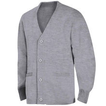 Latest Design School Uniform Knitted Grey Cardigan Sweaters