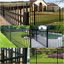 cheap garden pool stainless steel fence post design,barbed wire roll price fen galvanized steel fence ISO 9001 Factory