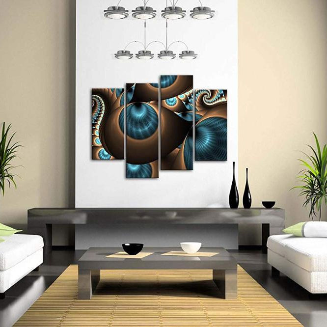 Abstract Blue Brown Like Several Holes Wall Art Painting The Picture Print On Canvas Abstract Pictures for Home Decor Decoration