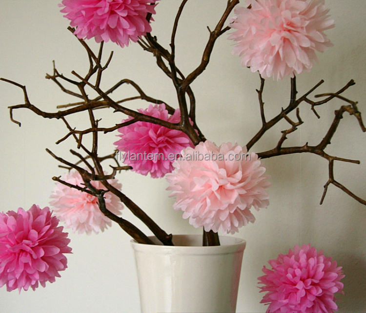 12'' Colorful hanging decoration tissue paper pom poms, Handmade DIY wedding flower balls for event &party (Factory direct sale)