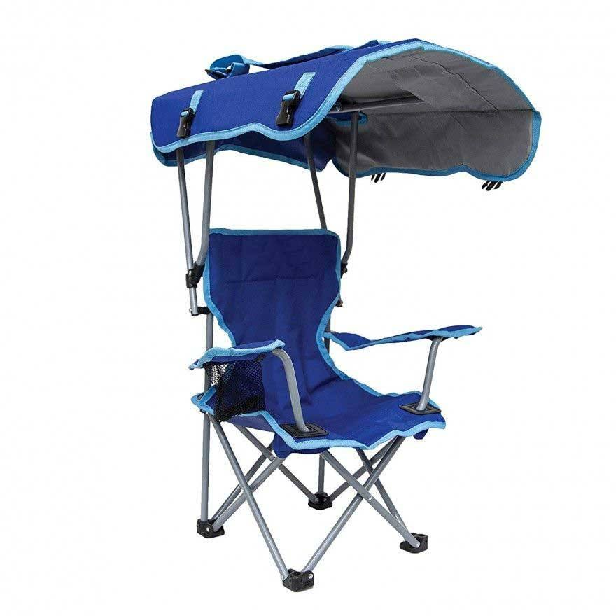 Holder Portable Folding Camping Outdoor Seat Shade Canopy Beach Chair With Cup