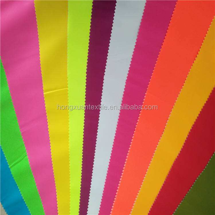 High quality bright color taffeta milky coated waterproof raincoat fabric