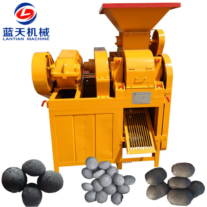 Roller press coal briquetting ball making machine
