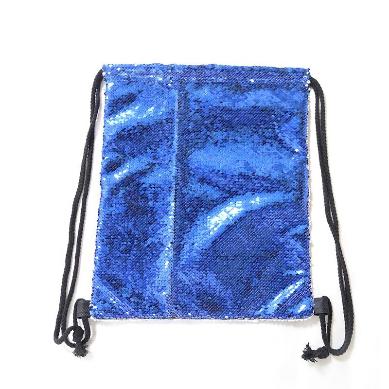 Fashion Decorative OEM Pattern Sublimation Sequin Drawstring Bags