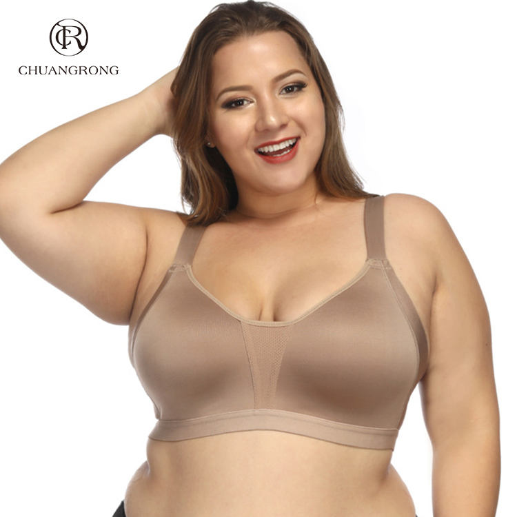 2018 brown bro big cup bra plus size big women bra