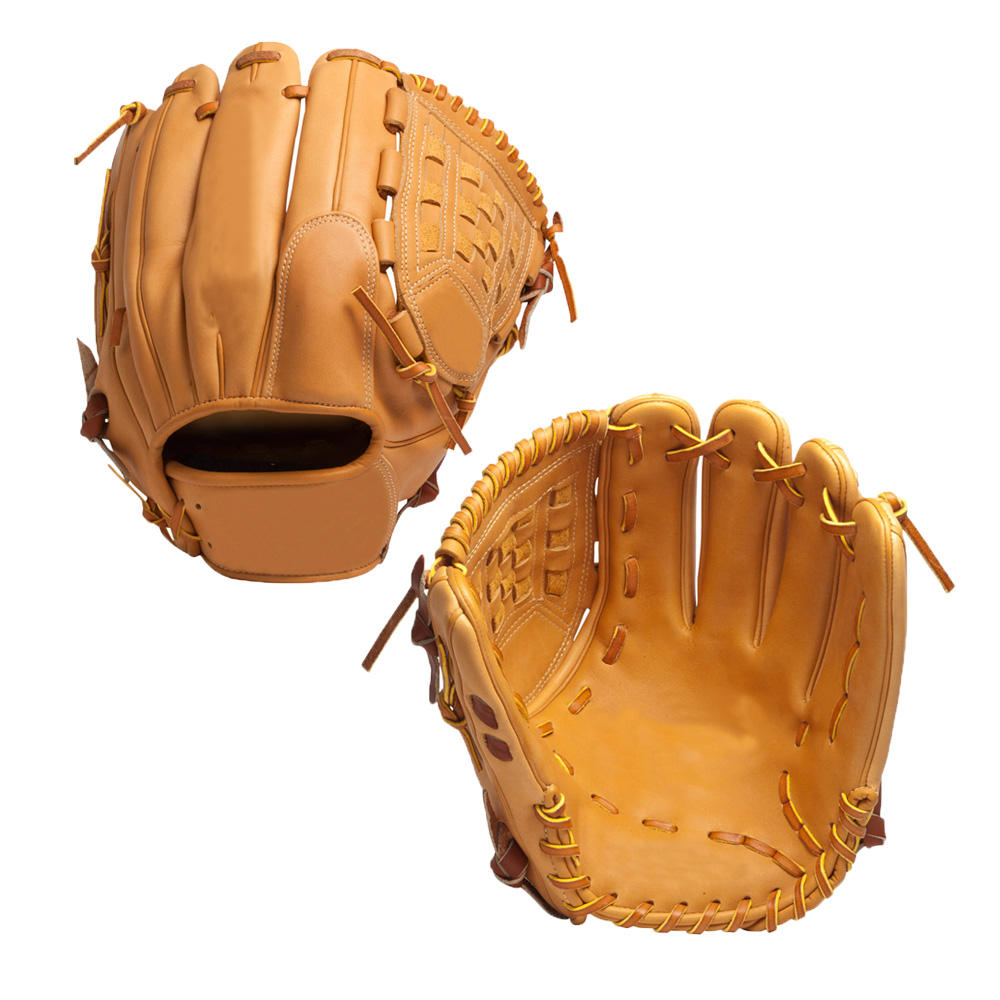 2019 baseball gloves tan color leather softball gloves ready to ship