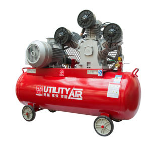 Kebisingan Rendah 8bar 4hp 3kw Portable 2 Silinder V Belt Drive Piston Air Compressor 12 13 CFM 100L/100 liter 8 Bar 4 HP untuk Lukisan