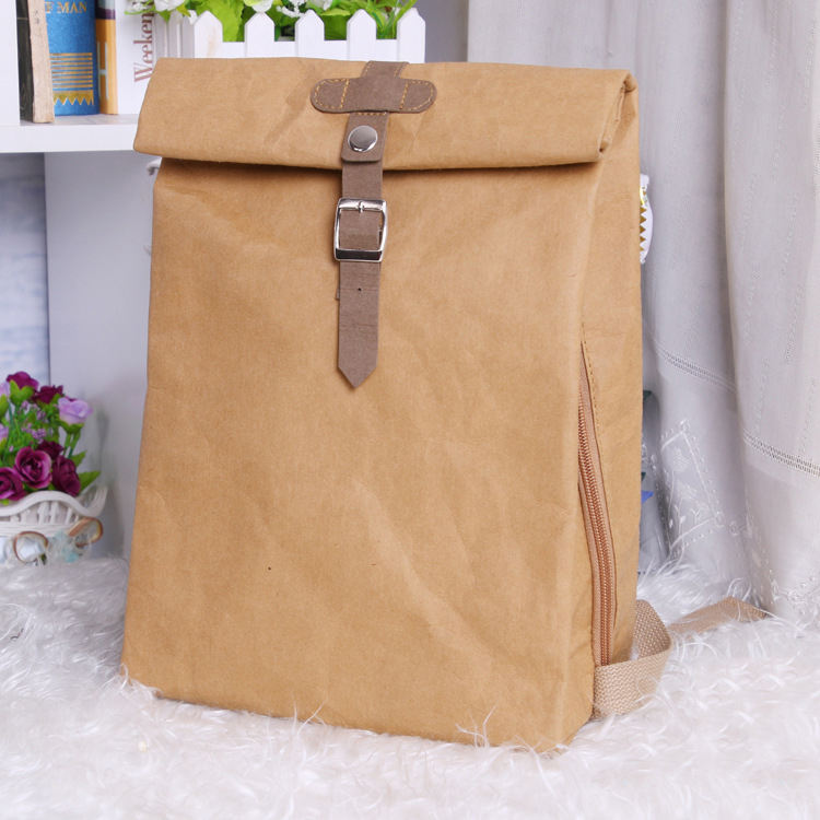 Day Backpack Use 30L Capacity Kraft Paper Bag eco friendly recyclable backpacks