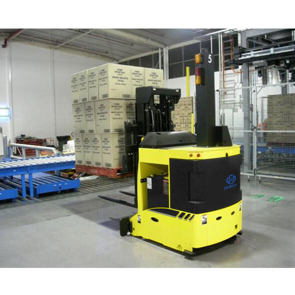 1Ton payload forklift agv automated guided vehicle for warehouse
