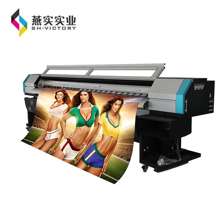Phaeton UD-3208P, 3.2/10ft Grootformaat Outdoor Solvent Printer (4 of 8 spt510/35pl hoofd, C, M, Y, K 4 kleur)