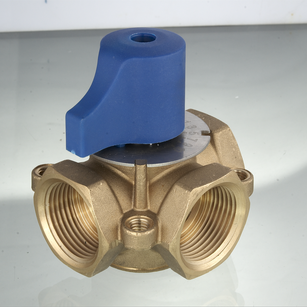 High quality hot forged 3-way brass mixing water valve