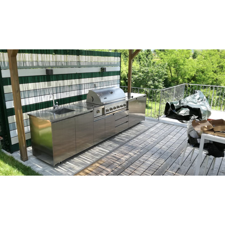 2019 Hangzhou Vermont New Custom Made High Quality Outdoor Stainless Steel Kitchen Cabinet Design