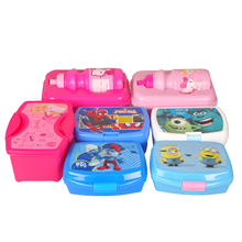 Everich eco kids insulated plastic vacuum cartoon gift setchildren lunch box
