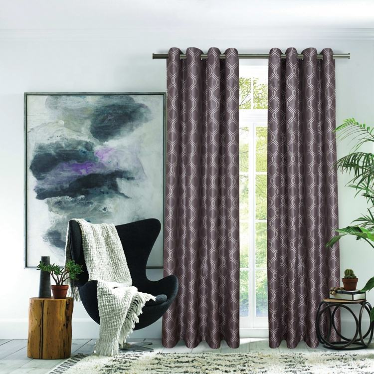 Curtain cloth hotel window jacquard used home modern curtains indoor curtain